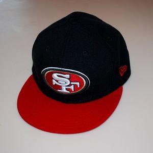 SF 49ers Baseball Flat Cap New Era 7 3/8 NFL